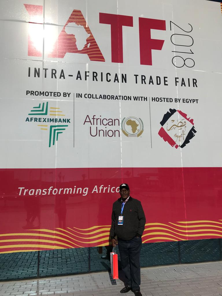 CLL MD  Mr Mike Mornu at IATF in cairo, Egypt