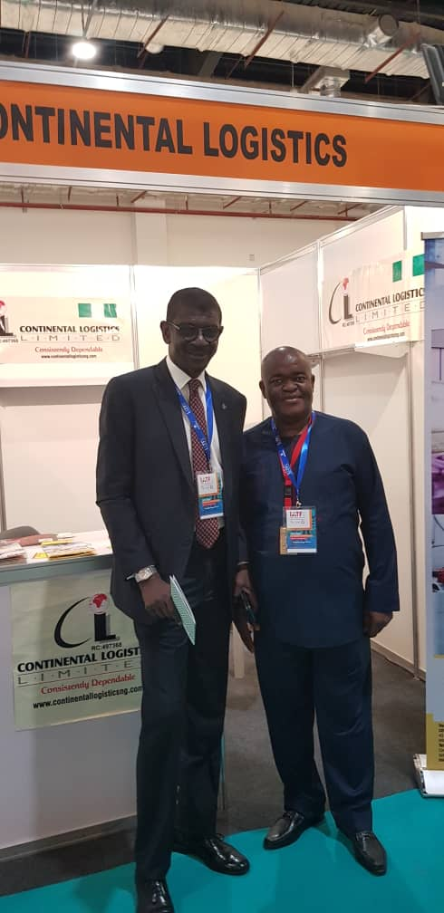 Nexim Bank MD  and Mr Mike of CLL during a visit to CLL Stand